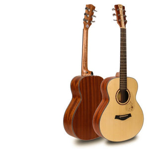 "38"" Acoustic Electric Guitar,Spruce Top/Body guitarra eletrica With LCD Pickup, GS mini guitar,For Children For travel guitar"