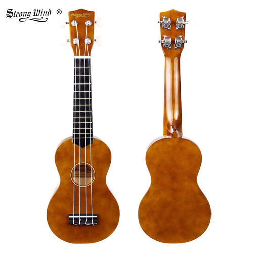 Strong Wind Ukulele 21 Inch Soprano Ukulele Mini Acoustic Small Guitar Hawaii Ukulele for Beginner Kids with Bag Strap Full Kits