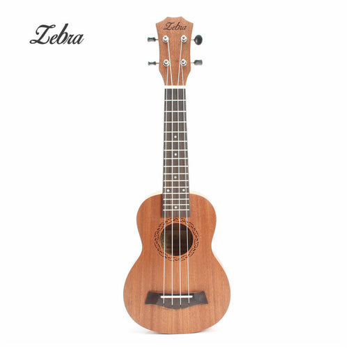Zebra 21 Inch Sopraan Ukulele Hawaii 4 Strings Mini Guitar Rosewood Uke Beginner