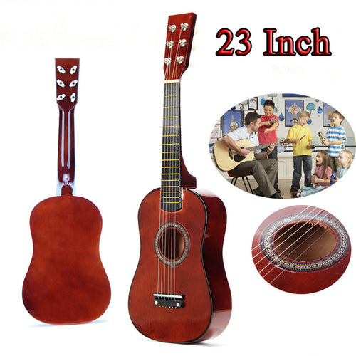 23'' Kids Acoustic Guitar 6 String Practice Music Instruments Beginners Gifts