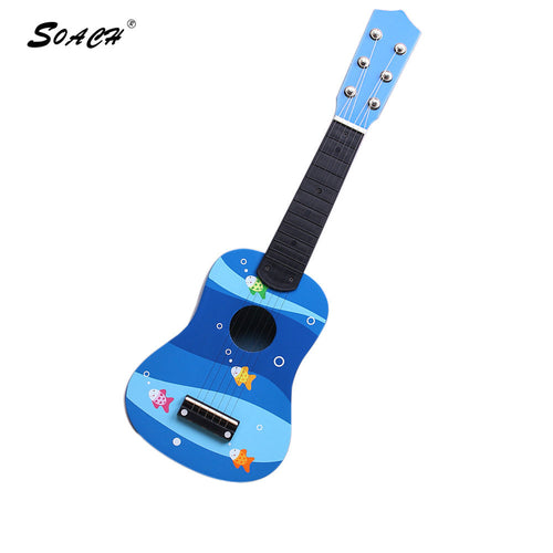SOACH Kid's animal floral motifs ukulele guitar factory direct wholesale bass acoustic guitar 6-string ukulele Children's guitar