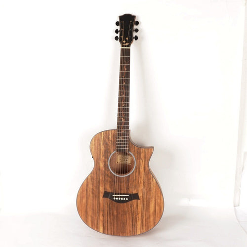 2018 new arrival walnut top acoustic electric guitar right angle guitar