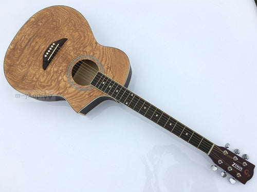 Single cutway acoustic guitar manchurian ash wood  top Catalpa wood with EQ