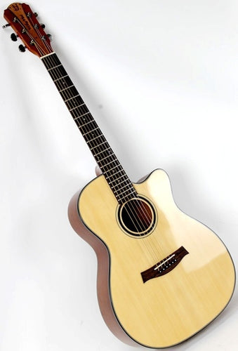 special offer 40 inch  acoustic guitar with triangle hole tone bars new design
