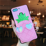 (1PC) 3D Money Pouch Pineapple Case For IPhone XS XR XS Max X 8 7 6 6S Case Phone Back Cover Coque Cute Gift