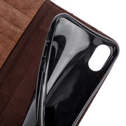 (1PC) Retro Book Phone Cases For IPhone XS MAX XR X Case Capa Flip Wallet Card Slots Stand Funda TPU Soft Cover Inside