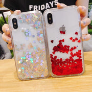 2018 New Real Fashion Glitter Quicksand Phone On For Iphone X 7 8 6 6s Silicone Soft Back Cover For 8plus 7plus 6plus