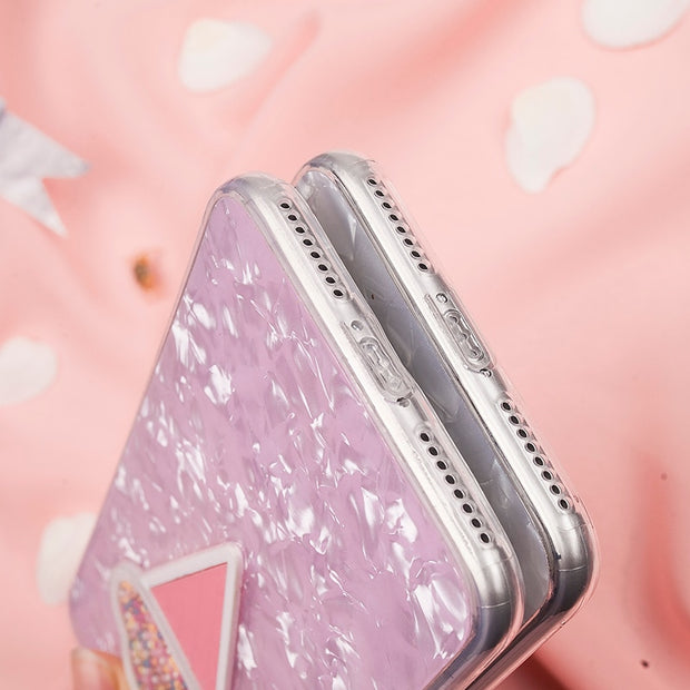 2018 Rushed 3d Dynamic Ice Cream Phone For Iphone X 6 7 8 Fashion Glitter Bling Back Cover Lovely Cartoon Cases For 8p Capa