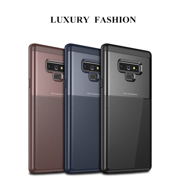 2019 For Samsung Note 9 Luxury 360 Full Protection Soft TPU Silicone Hard PC 2 In 1 Back Cover For Samsung Note 9 Coque