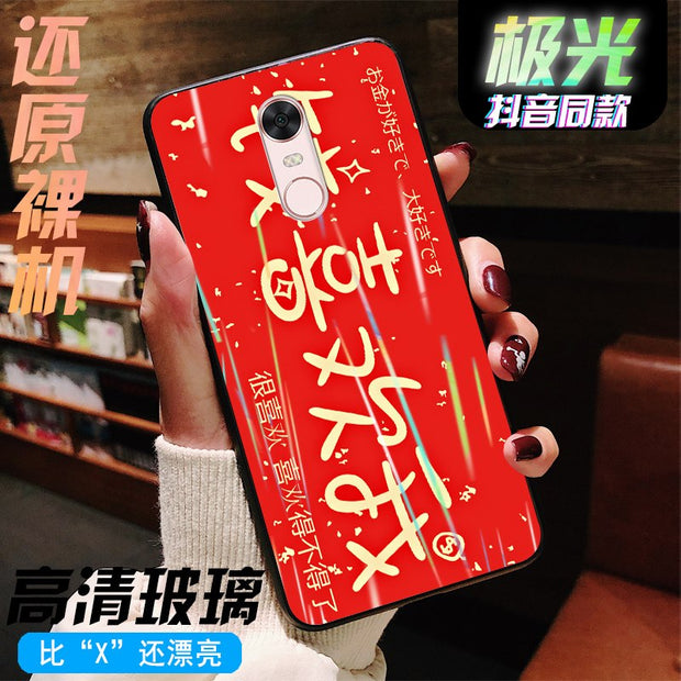 2019 New Fashion Phone Case For IPhone 6plus IPhone 6splus Solid And Electroplated Platinum Aurora Glass Case