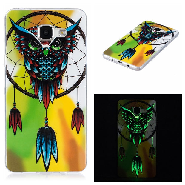 2Pcs For Samsung A5 2016 A510F Case Luminous Anime Silicone TPU Back Cover Case For Samsung Galaxy A5 2016 A510 A510F Soft Cover