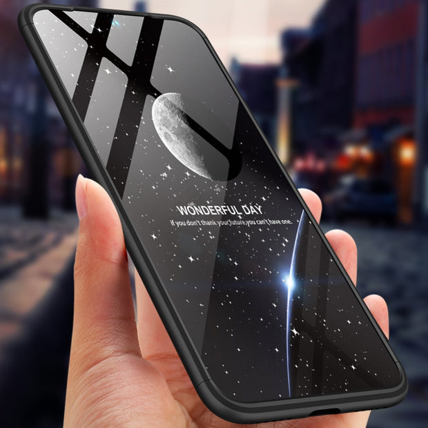 360 Degree Full Protection Hard Case For Xiaomi Redmi Note 7 Cover Shockproof Case For Xiaomi Redmi Note 7 Case + Glass Film