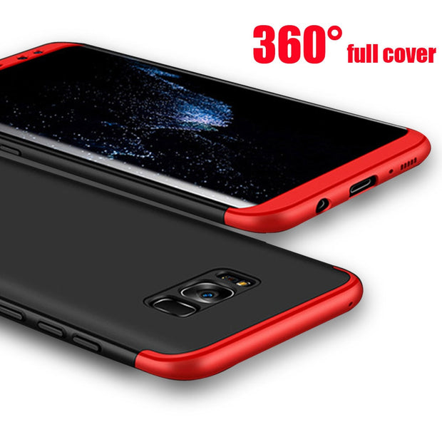 360 Full Protection Hybrid Hard Acrylic Matte Shockproof Armor Phone Cases Covers Bags For Samsung Galaxy S8 S8 Plus S7 Edge