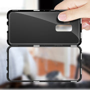 360 Magnetic Flip Case For Samsung Galaxy S8 S9 Plus Note 8 9 J4 J6 Plus J8 A7 A9 2018 Glass Back Cover Metal Frame Coque Shell