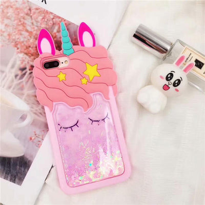 3D Cartoon Pink Quicksand Unicorn Soft Silicone Liquid Stars Case For Huawei Mate 10 Pro P20 P10 Lite P8 P9 2017 Back Cover