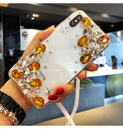 3D Diamond Case For Iphone 6 S 6 Plus Iphone 7 8plus XR Case Bling Soft TPU Coque Cover For Iphone 8 7plus Iphone XS MAX 10 Case