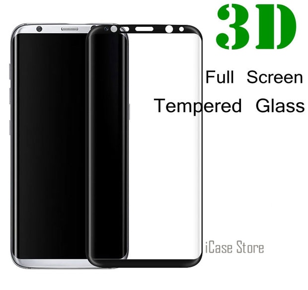 3D Full Screen Protector Film 9H Tempered Glass For Samsung Galaxy S6 S7 S8 Edge Plus A3 A5 A7 2017 A320F A520F A720F Film Case