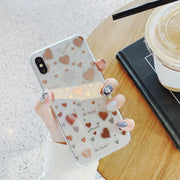 3D Kawaii Star Moon Transparent Korea Gold Phone Case For Iphone XS X MAX XR 6 7 8 Plus 7plus 8plus Cases Luxury Couple Cover