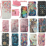 3D Luxury Fashion Painted Floral Cute Card Wallet Leahter Case For Iphone XS Max Case For Iphone XR XS COVER For Iphone X CASES