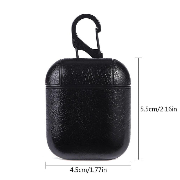 4 Colors Genuine Leather Protective Case Skin Cover Dust Shock-proof Guard For AirPod Bluetooth Earphone Mobile Accessories