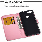 "5.65"" Flip PU Leather Case For Huawei Honor Enjoy 7S 3D Printed Wallet Bag With Stand Feature Card Slot Magnetic Clasp Cover Bag"