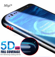 5D Curved Full Screen Protector For Samsung Galaxy S9 S8 Plus Note 8 Tempered Glass Film For Samsung Galaxy S8 S9 Plus Case