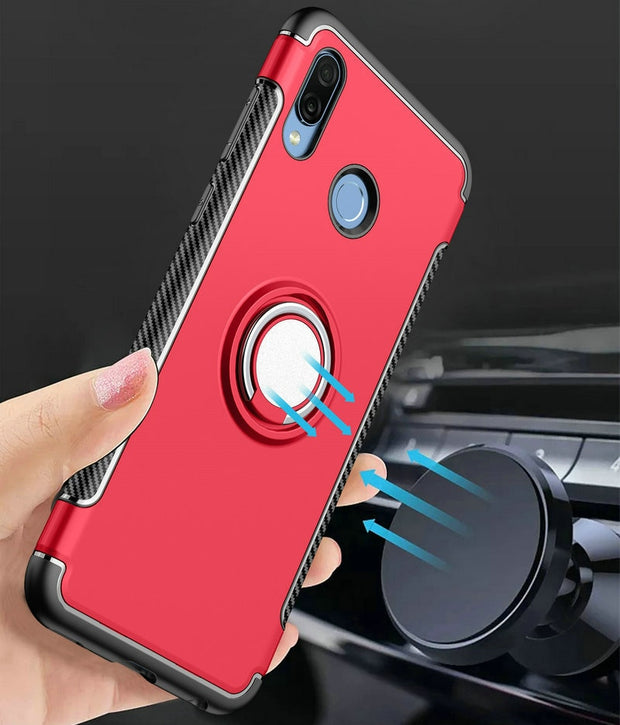 6.3'' Huawei Honor Play Case Car Magnet Ring Holder Luxury Back Cover For Funda Huawei Honor Play Smartphone Case Honoe Play