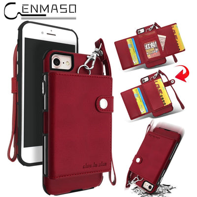 6plus 7plus 8plus Case For Iphone 6 7 8 Plus Case Flip Wallet Back Cover PU Leather Capa For Iphone 8 Case For Iphone 7 Funda