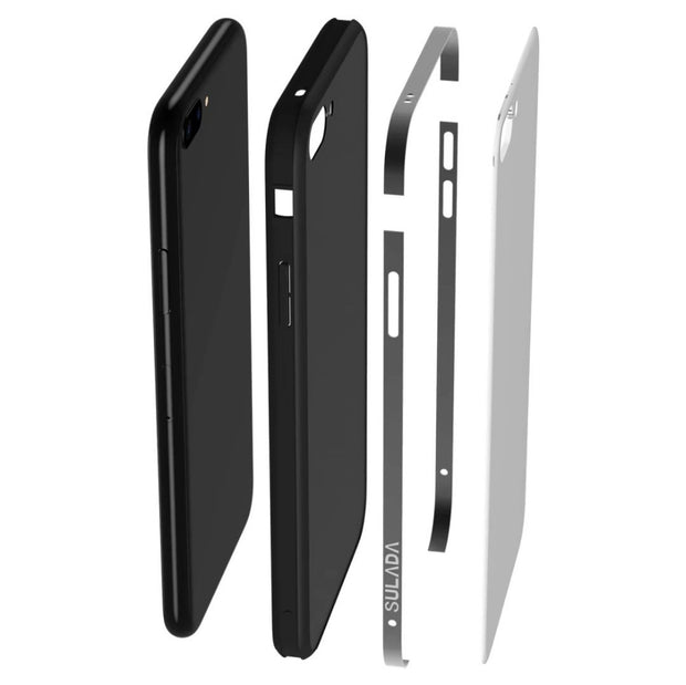 9H Tempered Glass Back Case For IPhone 6 Case Silicon Metal Bumper For IPhone 7 8 Case Anti-Scratch Back Cover For IPhone 8 Plus