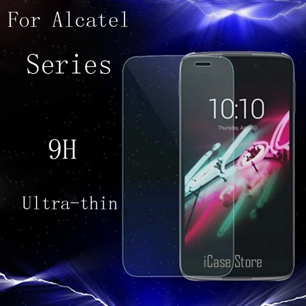 9H Tempered Glass For Alcatel One Touch C3 C5 C7 C9 5042 M5 IDol3 Pixi3 Dual POP IDol2 6037 Cover Case Screen Protector Film