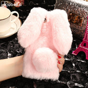 AKABEILA Fitted Cases For Asus Zenfone 4 Max Plus Case ZC550TL Rabbit Hair Cover Silicone Stylish ZC554KL ZD553KL ZB553KL Bags