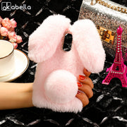 AKABEILA Fitted Cases For BQ Aquaris U2 Case 4072 5520 5022 5035 5044 Rabbit Hair Cover Soft Silicone Stylish For BQ V Plus Bags