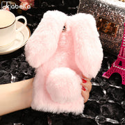 AKABEILA Fitted Cases For Meizu Pro 7 Case E3 Meilan 5S Rabbit Hair Cover Soft Silicone Stylish For Meilan S6 Bags