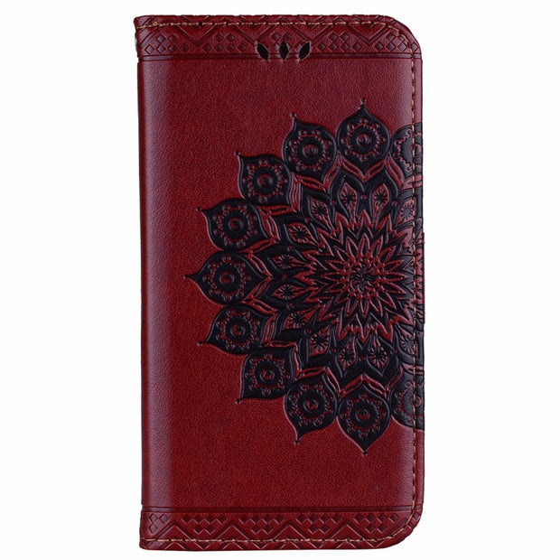 ARYIKUM Flip Leather Wallet Case For Coque Samsung Galaxy A7 A 7 2017 A720 A720F SM-A720F Protective Phone Accessories Cover
