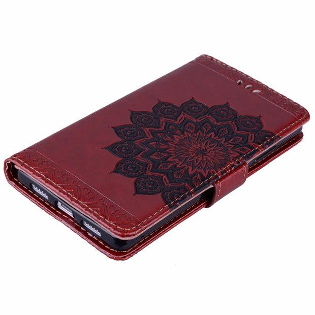 ARYIKUM Leather Case For Fundas Huawei P8Lite P8 Lite ALE-L21 Hawei Huawey Huawai Huaway Silicon Accessories Mandala Cover Coque