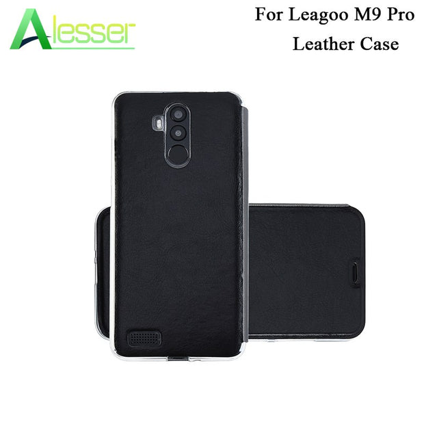 "Alesser For Leagoo M9 Pro Filp UP Business Leather Case Wallet Bag Flip Back Cover Case Coque 5.72"" For Leagoo M9 Pro Phone Case"