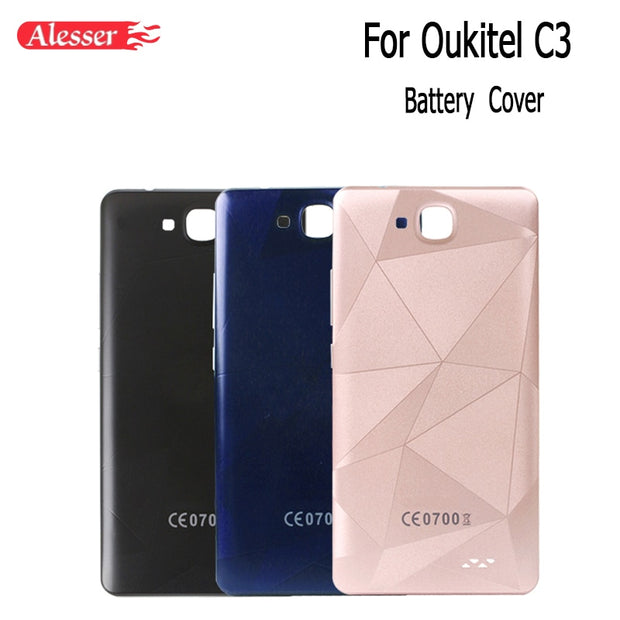 Alesser For Oukitel C3 Battery Case With Radiating Film Replacement Ultra Slim Protective Battery Cover For Oukitel C3 In Stock