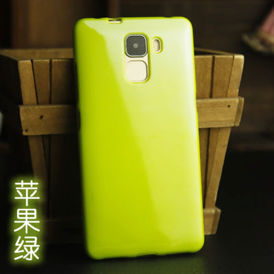 "Anti-Knock Soft Silicon Case For Huawei Honor 7 Phone Cover 5.2"" Solid Color Jelly Soft Shell Honor7"