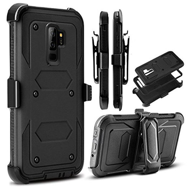 Apsudev Defender Phone Cases For Samsung Galaxy S9 Case Soft TPU Edge Hybrid Protective Case Cover For Samsung S9 With Belt Clip