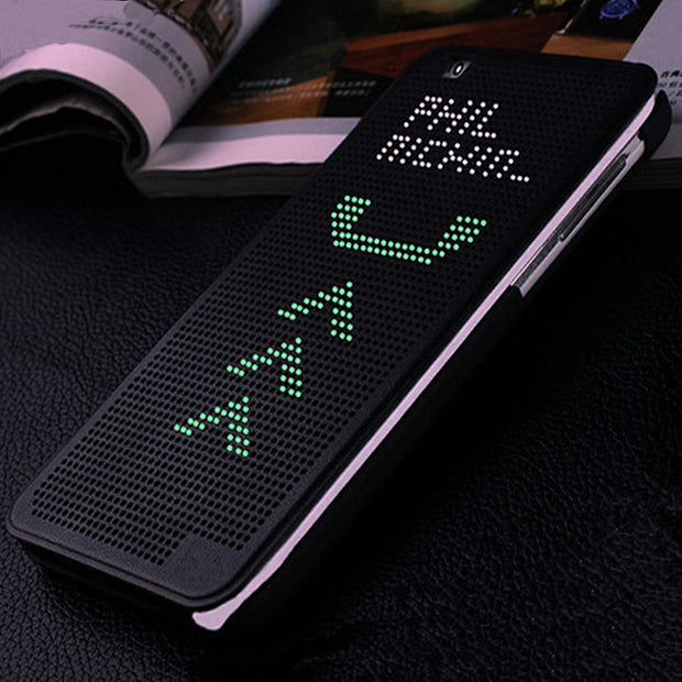 Auto Sleep Wake Function Skin Cover Case For HTC Desire Eye M910X Smart DOT View Soft Flip Case