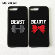 BFF Best Friends Beauty Beast Silicone Mobile Phone Cases For IPhone 5s Se 6 6s Plus 7 7plus 8 8plus X XR XS MAX TPU Cover Case