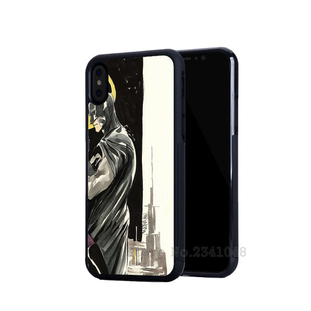 BFF Best Friends Catwoman Batman Super Hero Soft Silicone Phone Cases For IPhone 5s Se 6 6s Plus 7 7plus 8 8plus X XR XS MAX