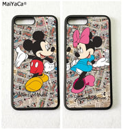 BFF Best Friends Mickey Mouse Silicone Softe Edge Phone Cases For IPhone 5s Se 6 6s Plus 7 7plus 8 8plus X XR XS MAX Cover Case