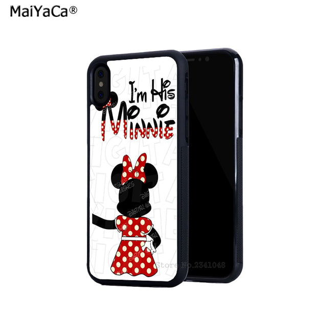 BFF Best Friends Mickey Mouse Silicone Softe Edge Phone Cases For IPhone X 5c 5s Se 6 6s Plus 7 7plus 8 8plus X XR XS MAX Cover