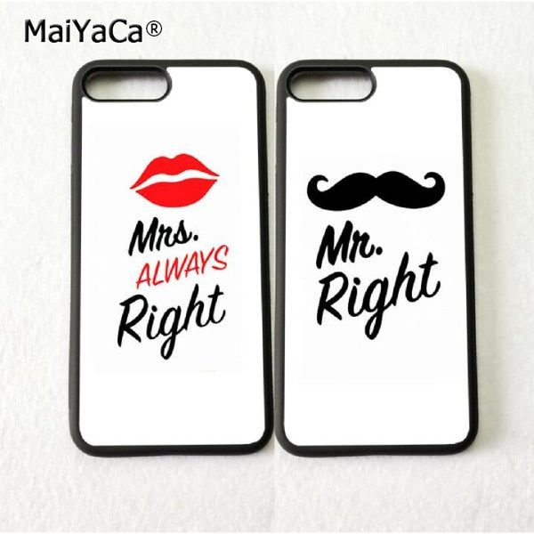 BFF Mr Goatee And Mrs Best Friends Cell Phone Cases For Iphone 5s Se 6 6s Plus 7 7plus 8 8plus X XR XS MAX Soft Cover Case