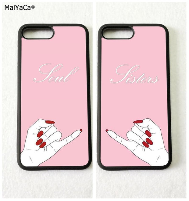 BFF The Best Friends Soul Sisters Soft Mobile Phone Cases For IPhone 5s Se 6 6s Plus 7 7plus 8 8plus X XR XS MAX Cover Case