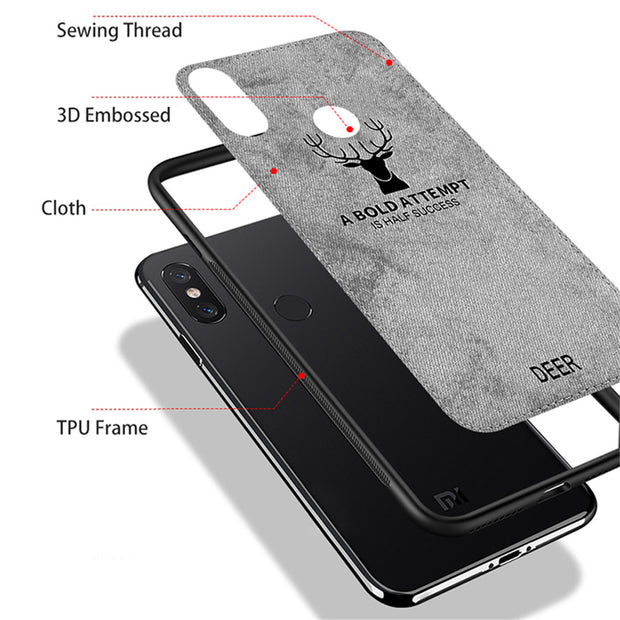 Bakeey Fabric Cloth Anti Fingerprint Protective Case For Xiaomi Redmi Note5 2018 Hot Deer Print Back Cover Case For Redmi Note5