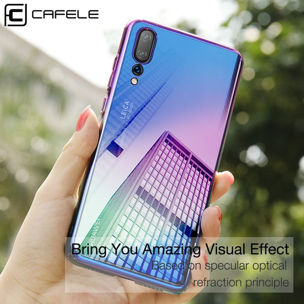 Bakeey For Huawei P20 Pro Hot Back Cover Gradient Color Plating Shockproof PC Protective Case For Huawei P20 Pro 6.1 Inch