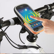 Bike Phone Holder Bag Mobile Stand For Iphone X 7 8 6 Plus Case Bicycle Handlebar Touch Screen Phone Bag For Samsung GPS Bracket