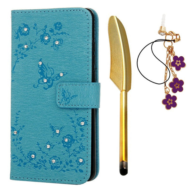 Bling Leather Case For Fundas Huawei P30 Pro Case Cover Butterfly PU Flip Wallet Protective Phone Bag For Huawei P30 Pro